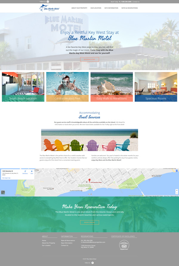 Blue Marlin web design