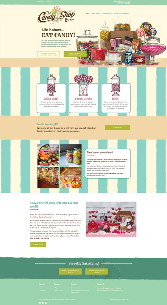 Candy Shop Box site design