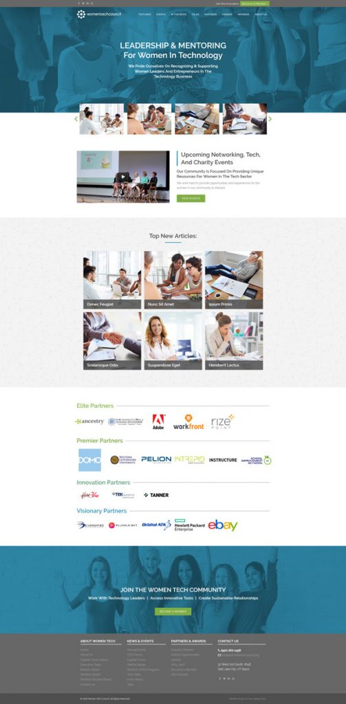 Women Tech Council site design