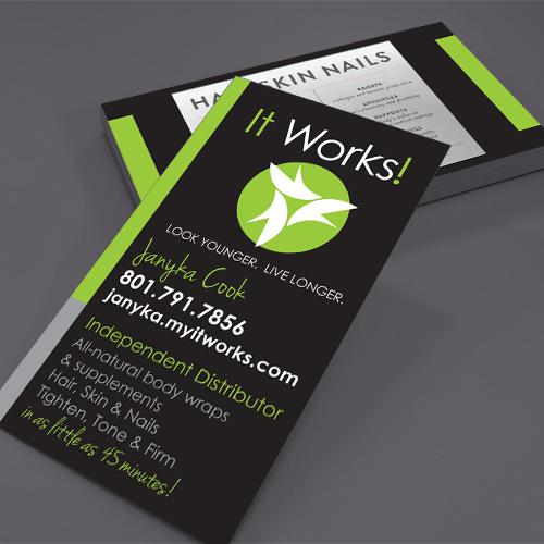 It Works! business card
