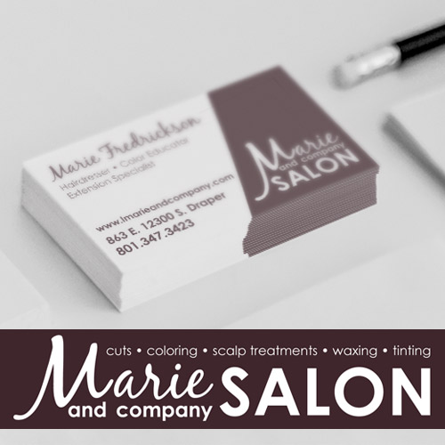 Marie and Co. Salon, branding design