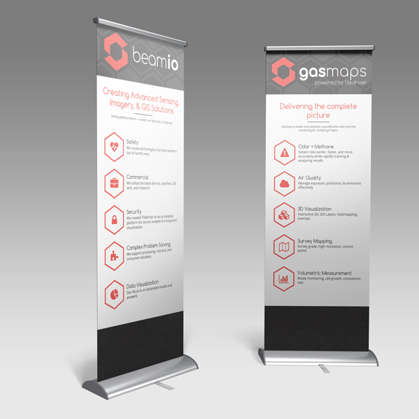 Tradeshow banners for  remote gas sensing technology
