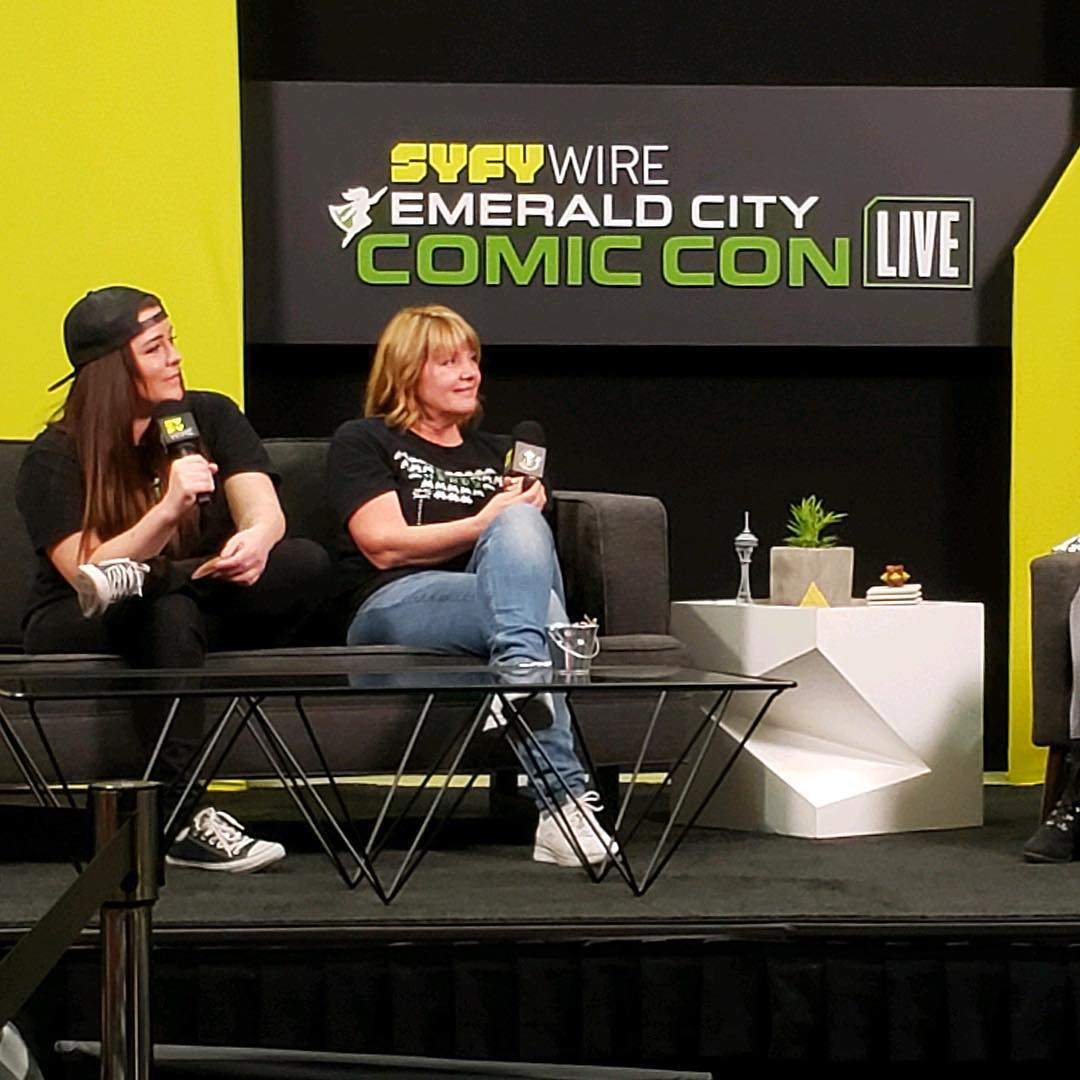 Jennie Hales on stage at Emerald City Comic Con